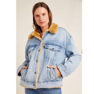 Levi's Kara Sherpa Lined Denim Trucker Jacket